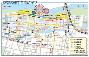 板橋花火大会 アクセス&交通規制図