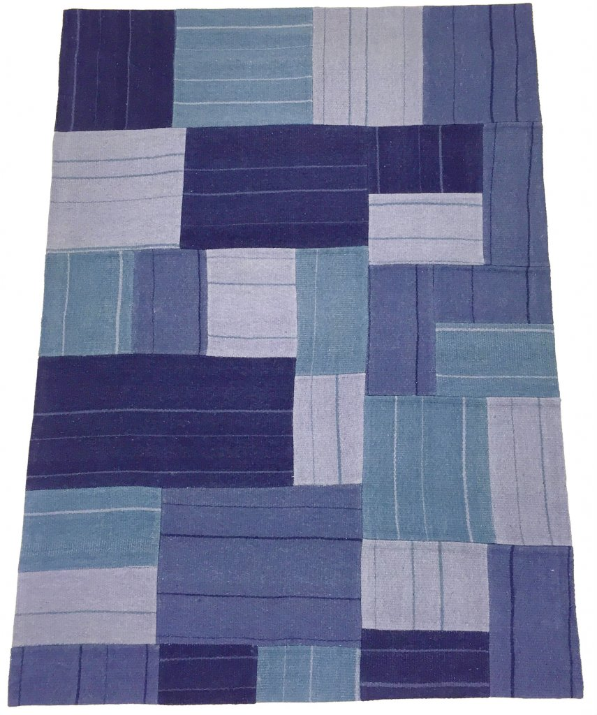 Baby Patchwork Tæppe Patchwork Carpet Superior New Wool Patchwork Blue