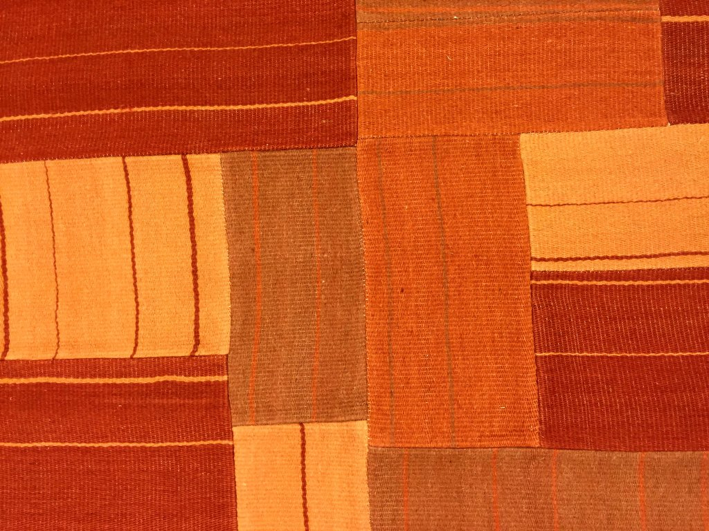 Angora Teppiche Patchwork Teppich Superior New Wool Patchwork Orange