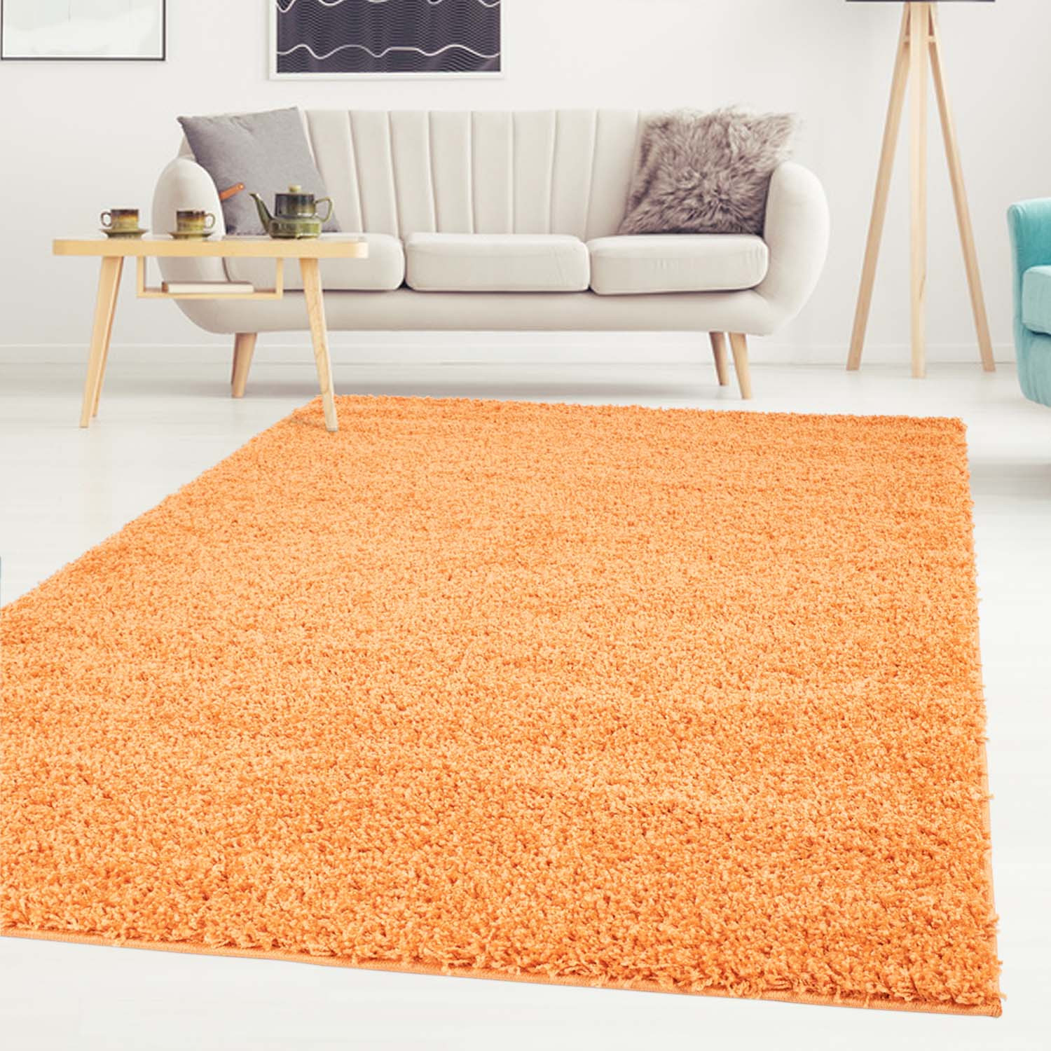 Tapis Shaggy Orange Tapis Shaggy Trim Orange