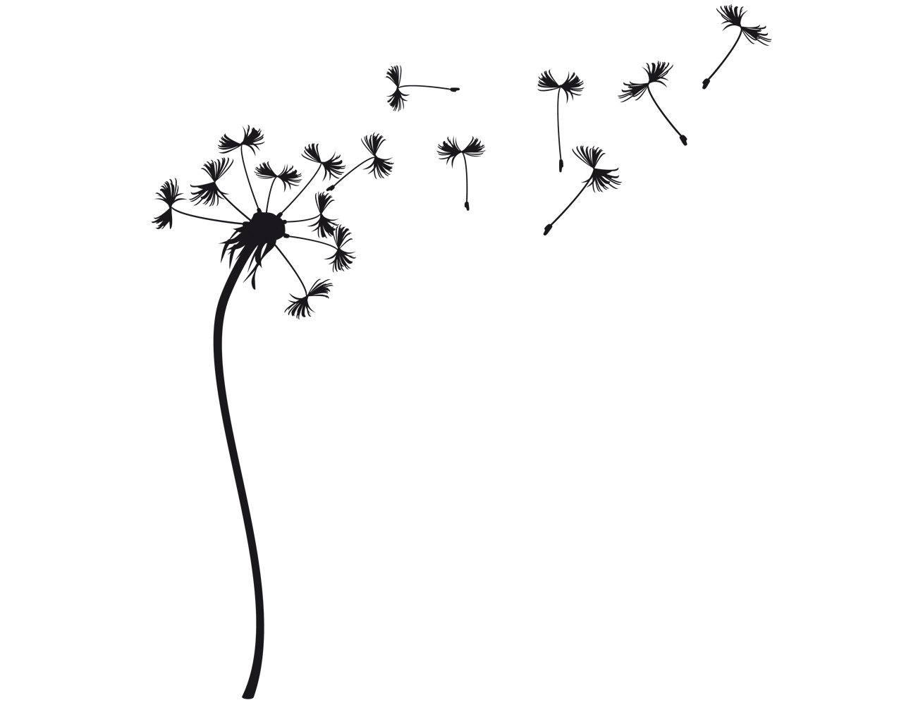 wandtattoo pusteblume