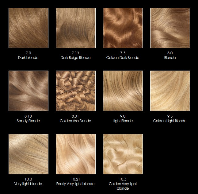 OLIA, Color  Shine, Belle Color - hair color chart - hair color chart