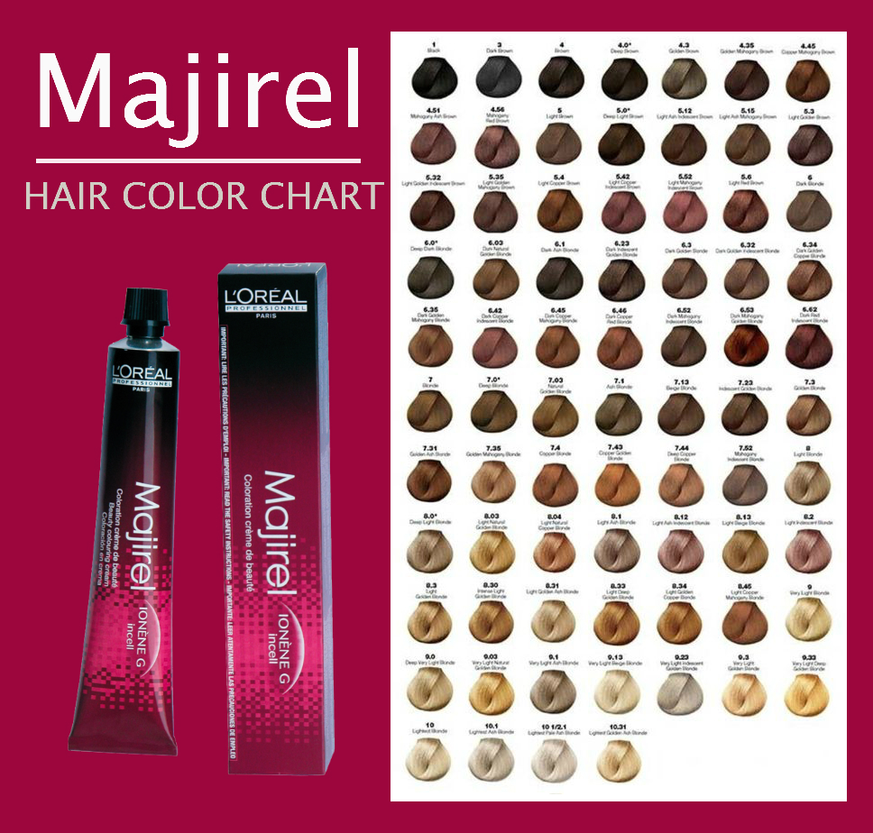Majirel hair color chart instructions ingredients