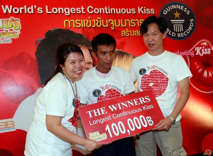 World's record in kissing