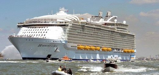 The worlds largest cruise ship Harmony has arrived in Southampton and is ready for its first Cruise to Barcelona