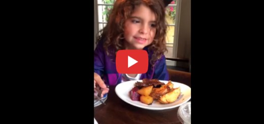 You won't believe what this adorable little girl does with her food at a diner