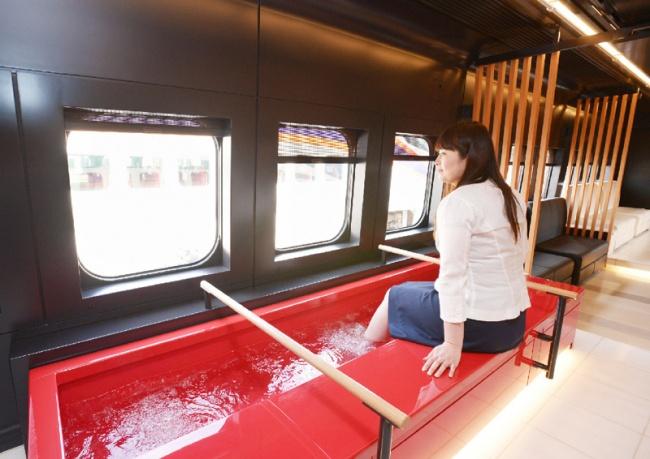 Trains with foot spas