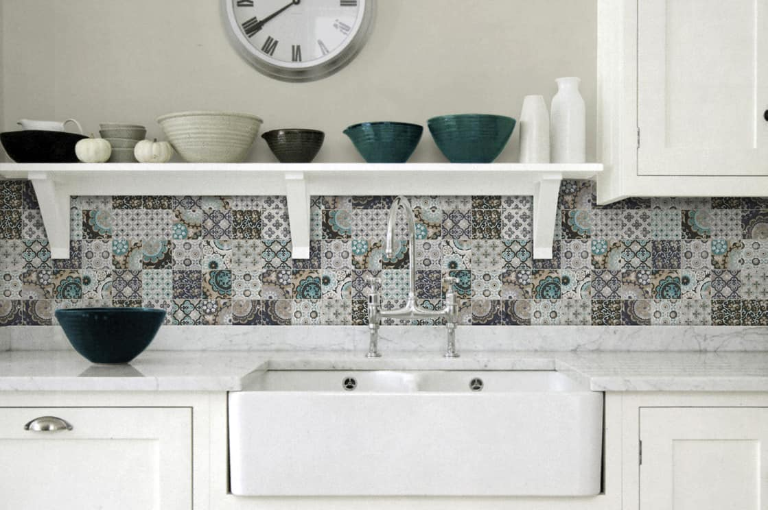 country style kitchen backsplash green patchwork patterns country kitchen backsplash ideas pictures