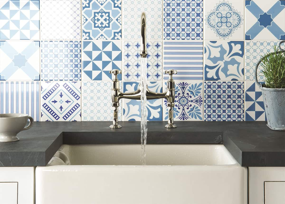 delightful patchwork effect blue white backsplash wall tile classic wood mosaic tile kitchen backsplash mosaic tile