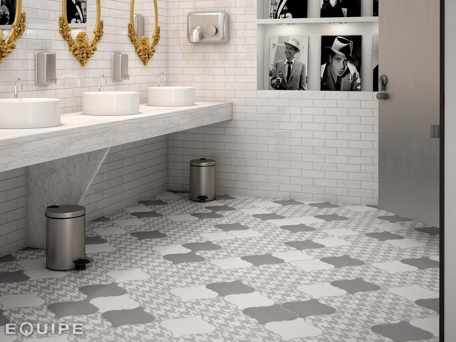 Grey Floor Tiles Bathroom 21 Arabesque Tile Ideas For Floor Wall And Backsplash