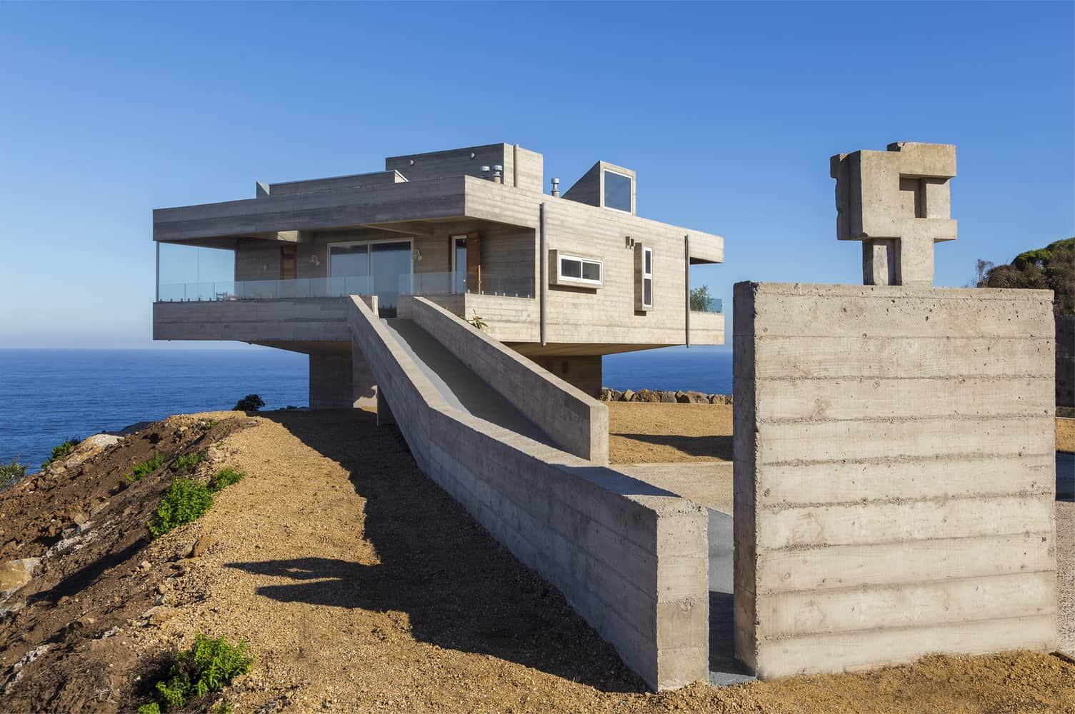 concrete holiday home chile gubbins arquitectos modern concrete homes designs plans trend home design decor