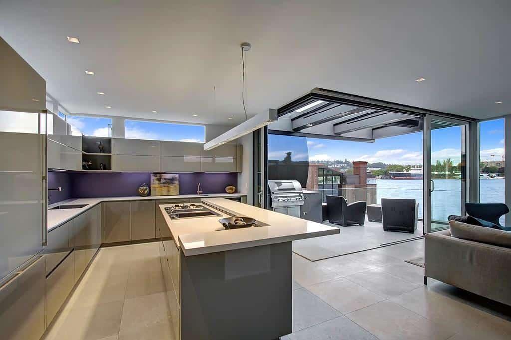 floating homes interiors modern kitchen home kitchen design display interior exterior plan