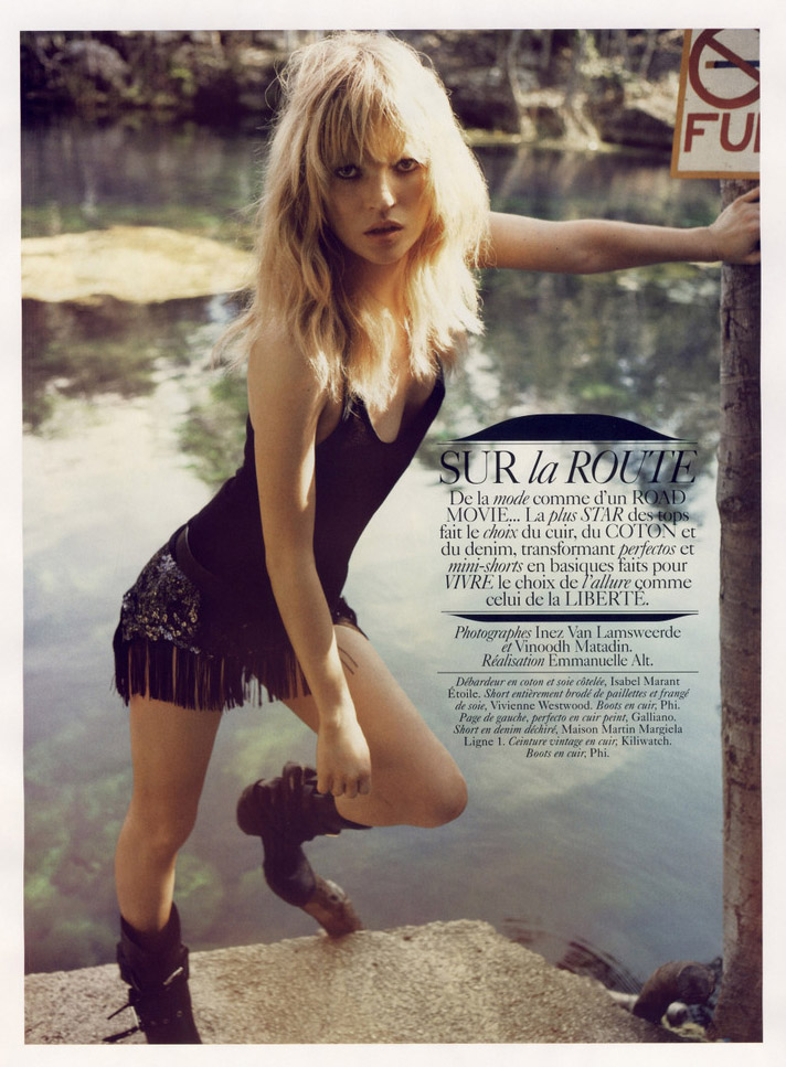 Rock N Roll Wallpaper For Girls Sexy Comme Kate Moss In French Vogue