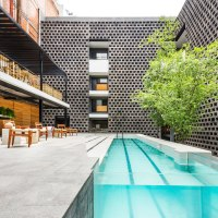Enter The Industrial Hotel Carlota in Mexico City