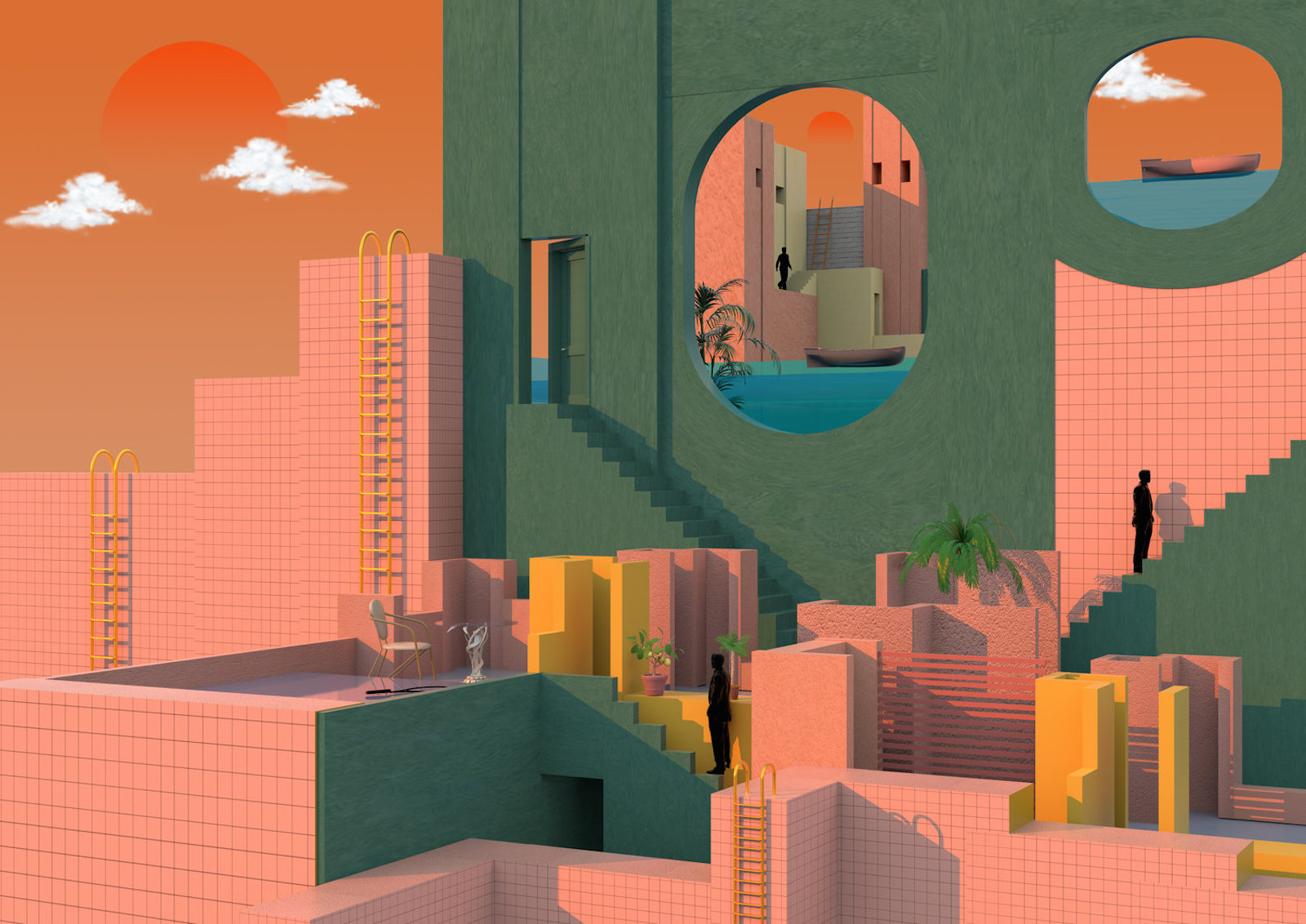 Architectual Illustrations Modernist 3d Illustrations By Tishk Barzanji Trendland