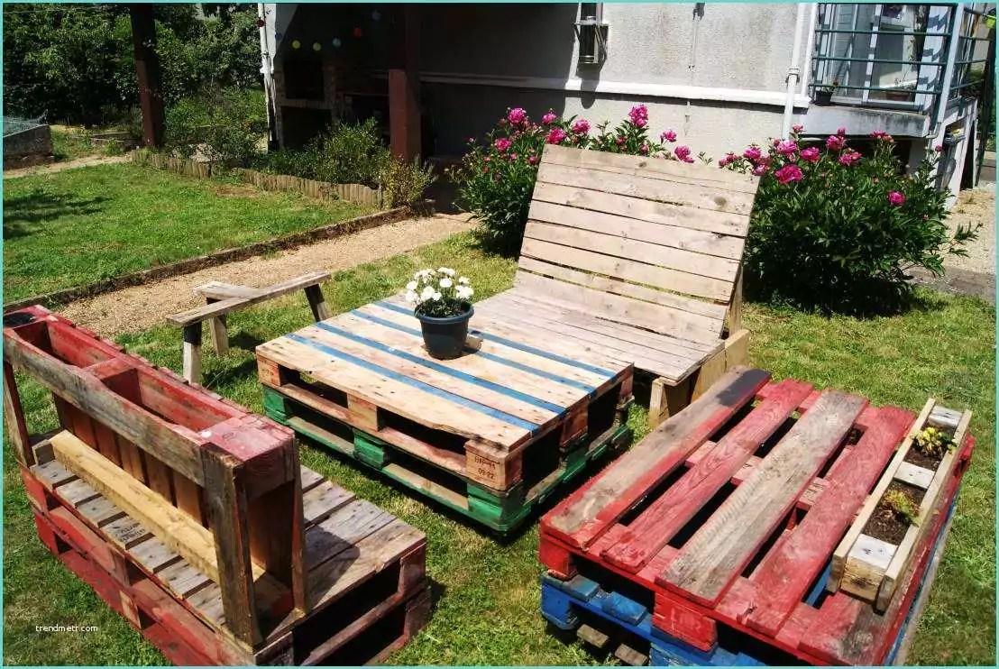 Mobilier De Jardin En Palette De Bois