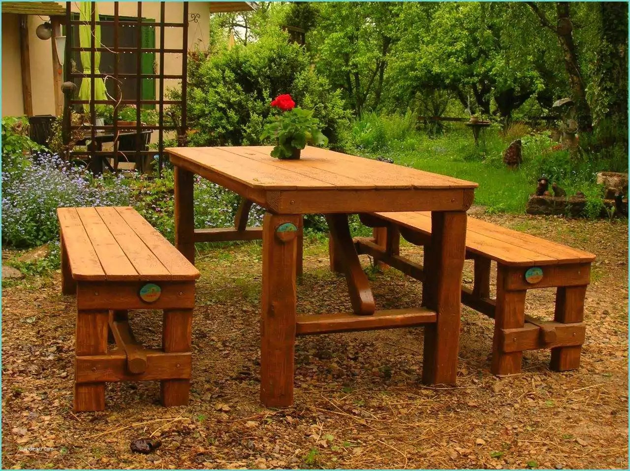 Table En Verre A Rallonge 48 Table Jardin En Palette Bois | Trendmetr