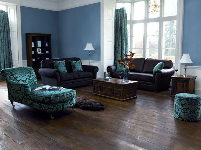Blau Lila Wohnzimmer - Wohndesign