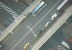 空から俯瞰した道路