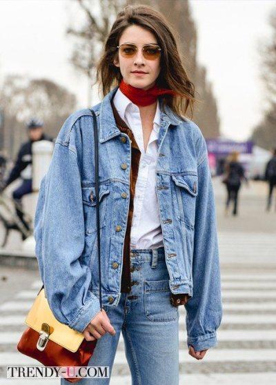Образ с джинсами в уличном стиле 2015