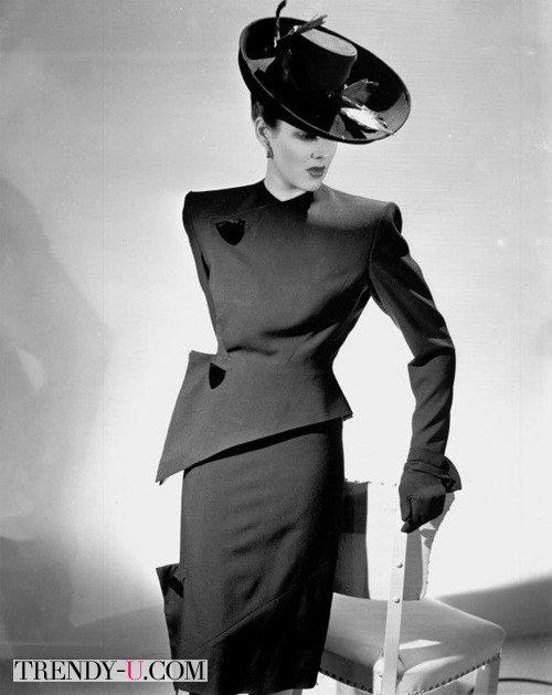 Аксессуары 50-х: шляпка и перчатки