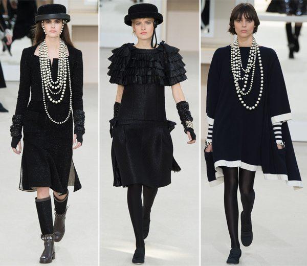 Черные маленькие платья Chanel осень-зима 2016-2017