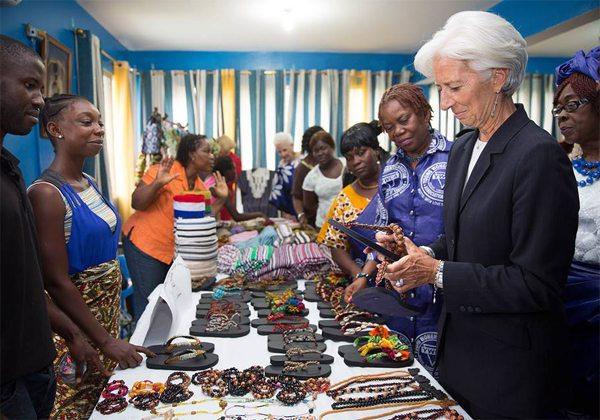 Christine Lagarde в деловом костюме