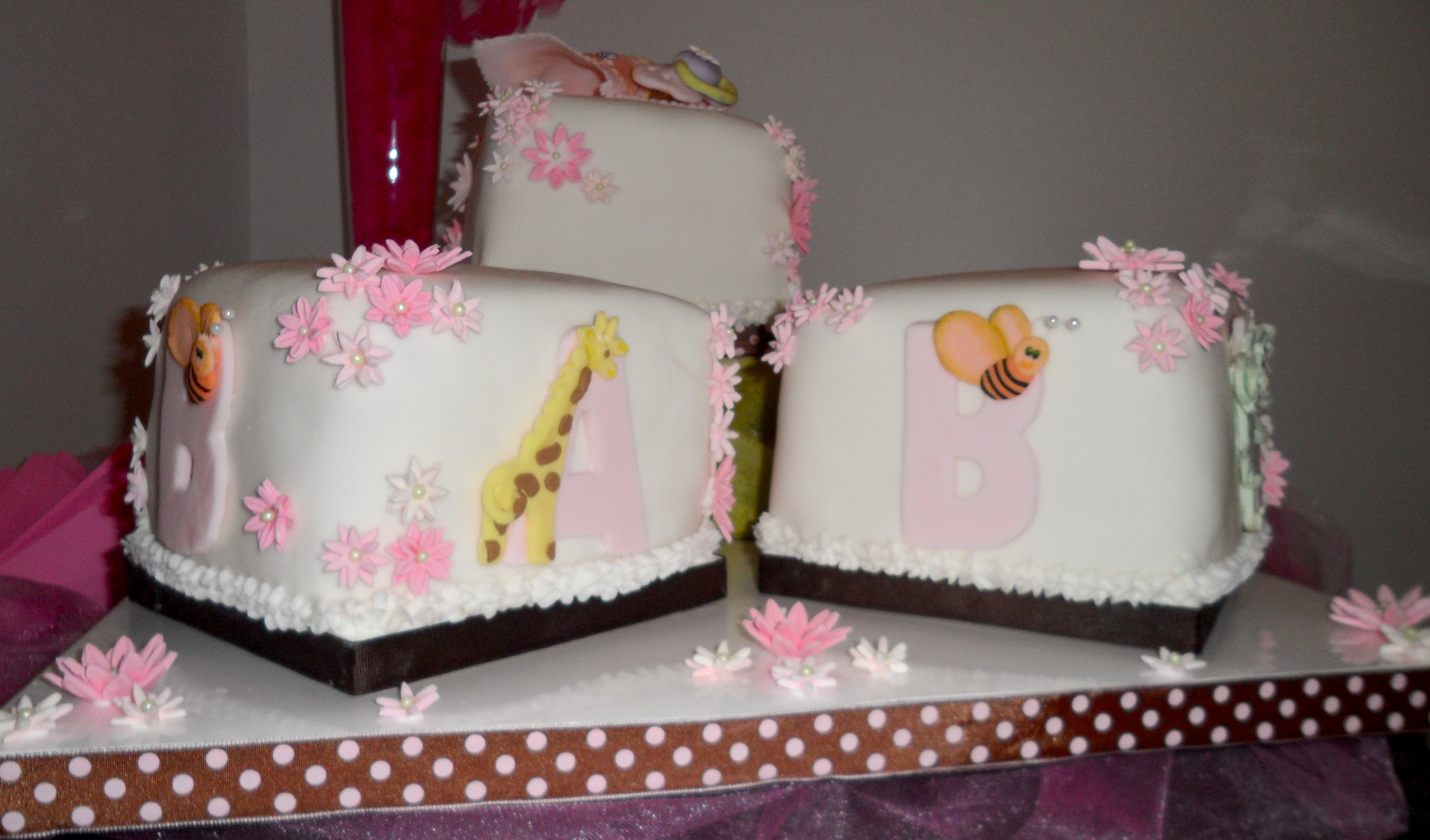pink and brown baby shower cakes trendyfunparty