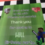 Mine craft birthday party captions
