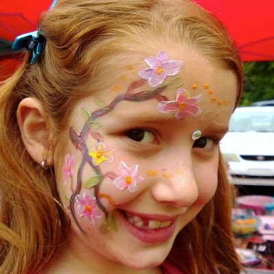 Funny birthday party face painting