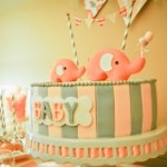 Pink and gray Elphant baby shower (1)