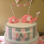 Pink and gray Elphant baby shower (22)