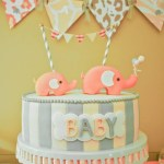 Pink and gray Elphant baby shower (5)