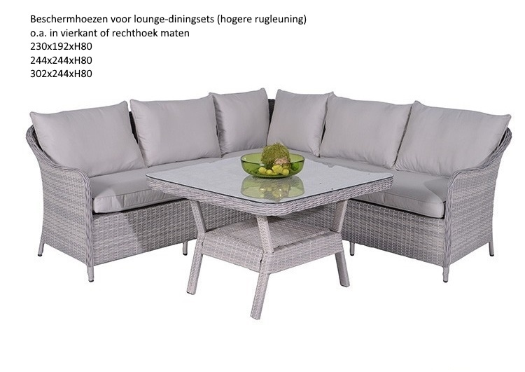 Lounge Hoes Lounge-diningset Hoes 244x244xh80 Ventilatie - Trendygarden.