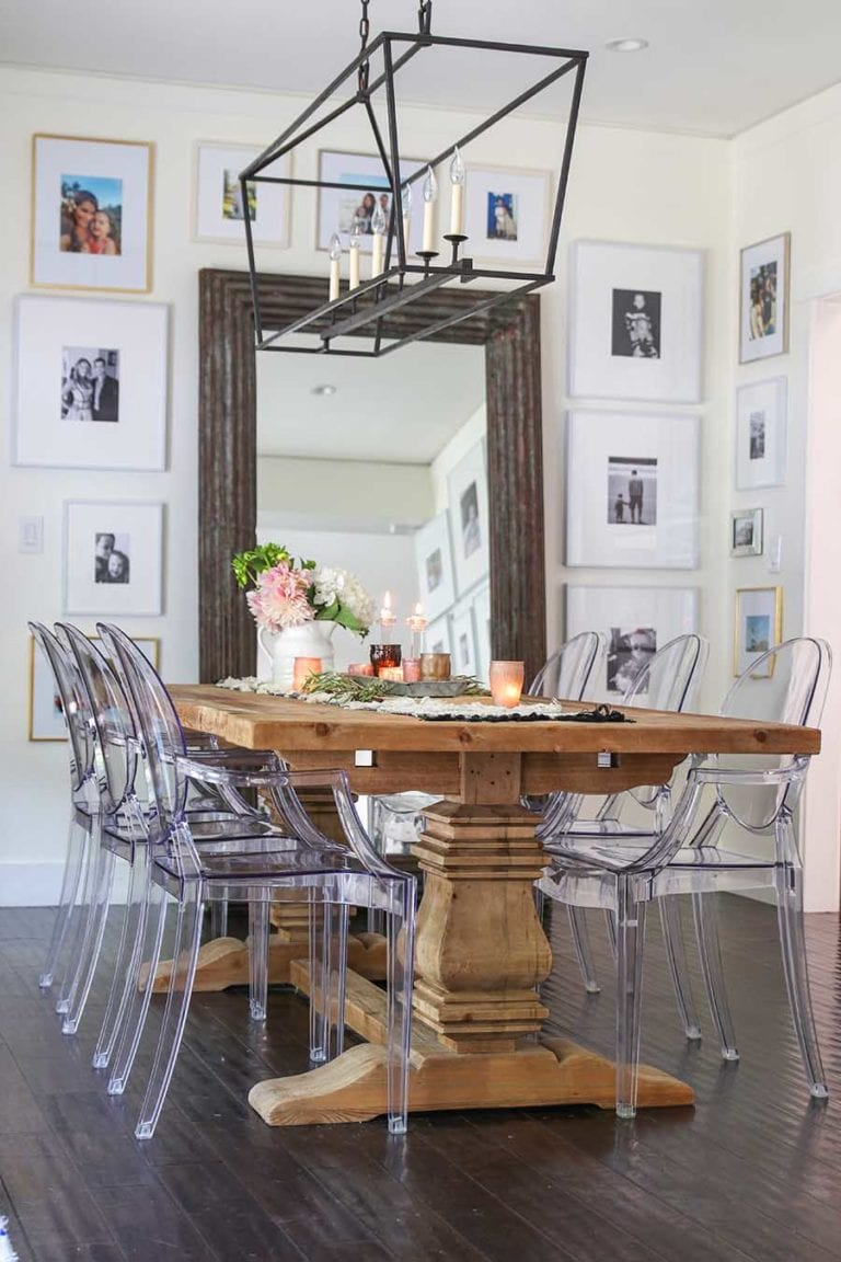 How To Get Your Dining Room To Look Farmhouse Chic Trendy Home Hacks