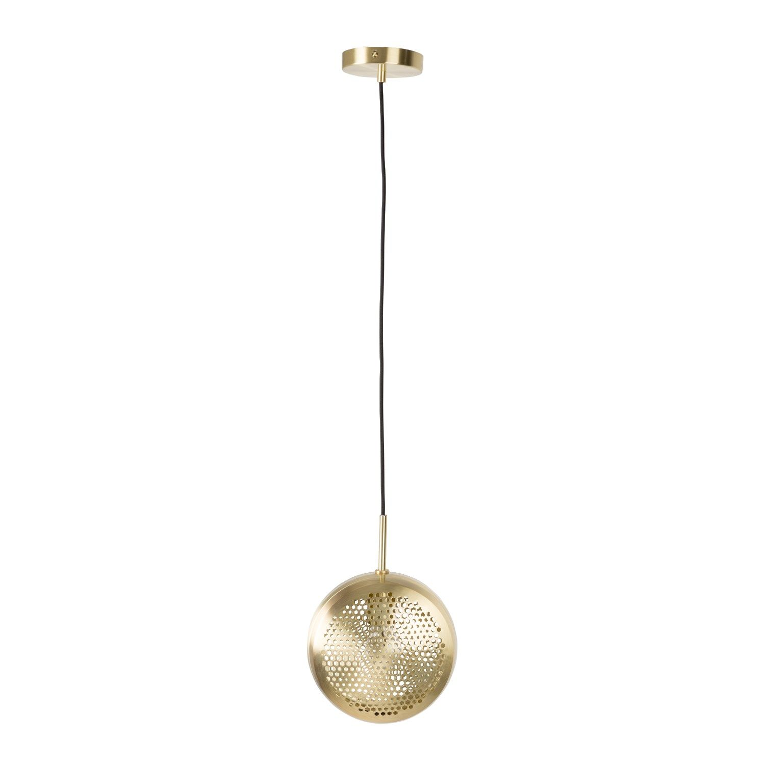 Messing Lampe Zuiver Pendel Lampe Gringo Flat Messing