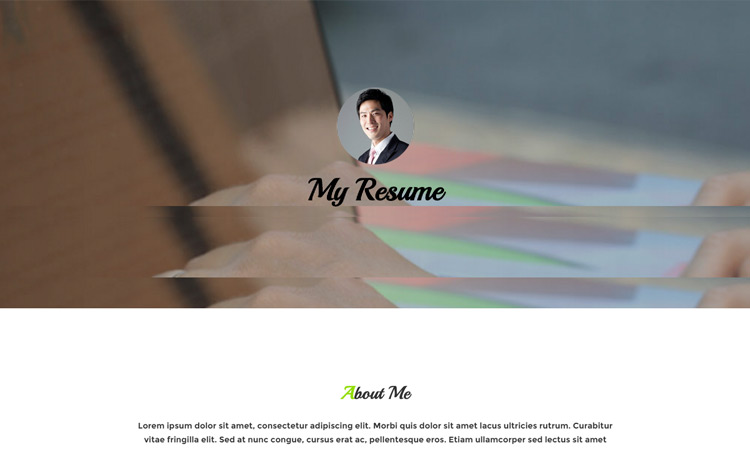 20 Best Free HTML Resume Templates By Trendy Theme - my free resume
