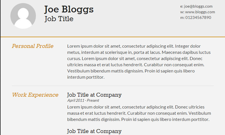 20 Best Free HTML Resume Templates By Trendy Theme - Best Template For Resume