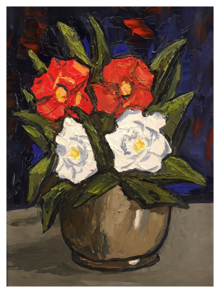Red and White Flowers, David Barnes