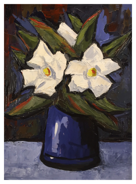 Blue and White Flowers, David Barnes