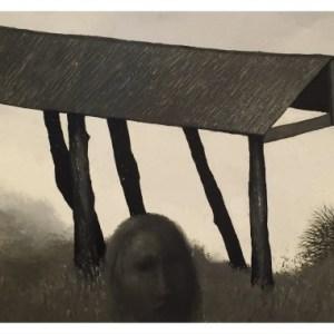 Simcock, Jack (1929-2012) Head and Broken Down Barn