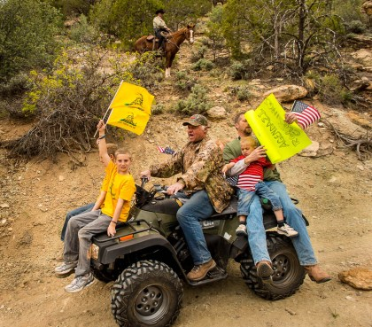 Illegal ATV ride through Recapture Canyon
