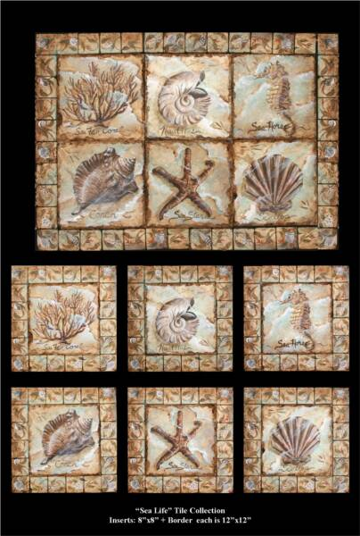 Decorative Tile Borders Nautical Tile Murals