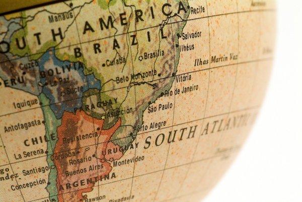 Mini Globe Brazil, Chile and Argentina