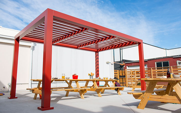 Element Aluminum Shade Structure By Trex Pergola - Aluminum Shade Structure Kits