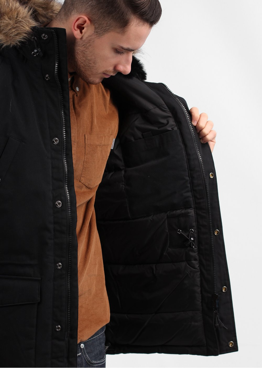 Nike Fleece Parka Carhartt Trapper Parka Coat Black