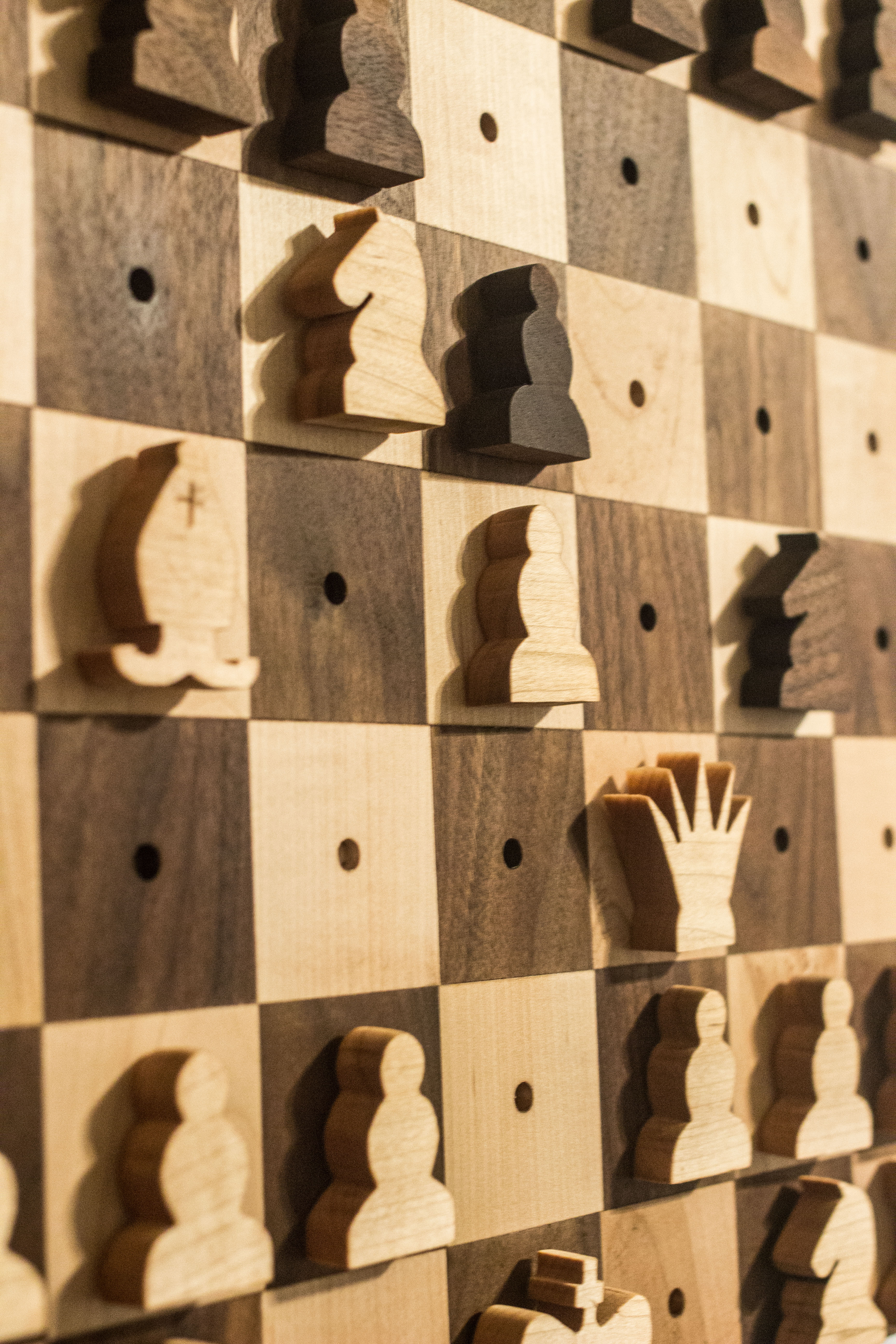 Diy Wood Chess Board Wall Hanging Chess Pieces T R I A L And E R R O R