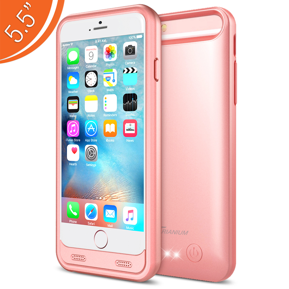 Iphone 6 Ne Kadar Atomic S Battery Case For Iphone 6 Plus Iphone 6s Plus 5 5 Rose Gold