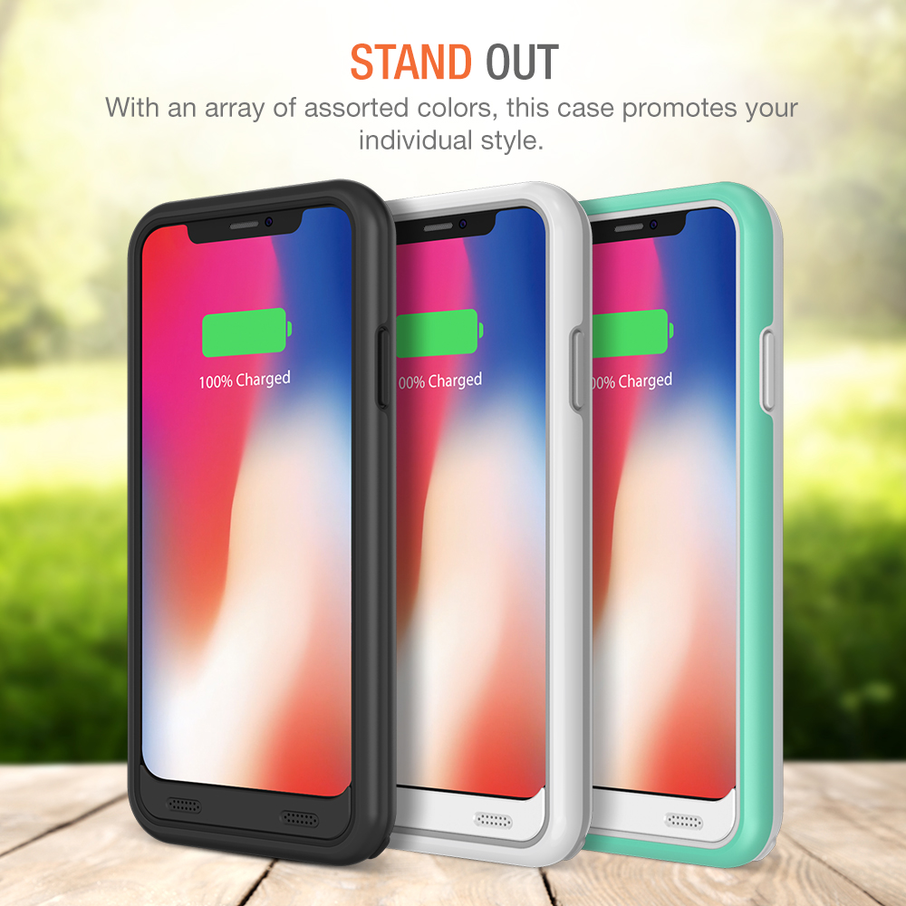 Battery Case For Iphone X Atomic Pro Battery Case For Iphone X Black