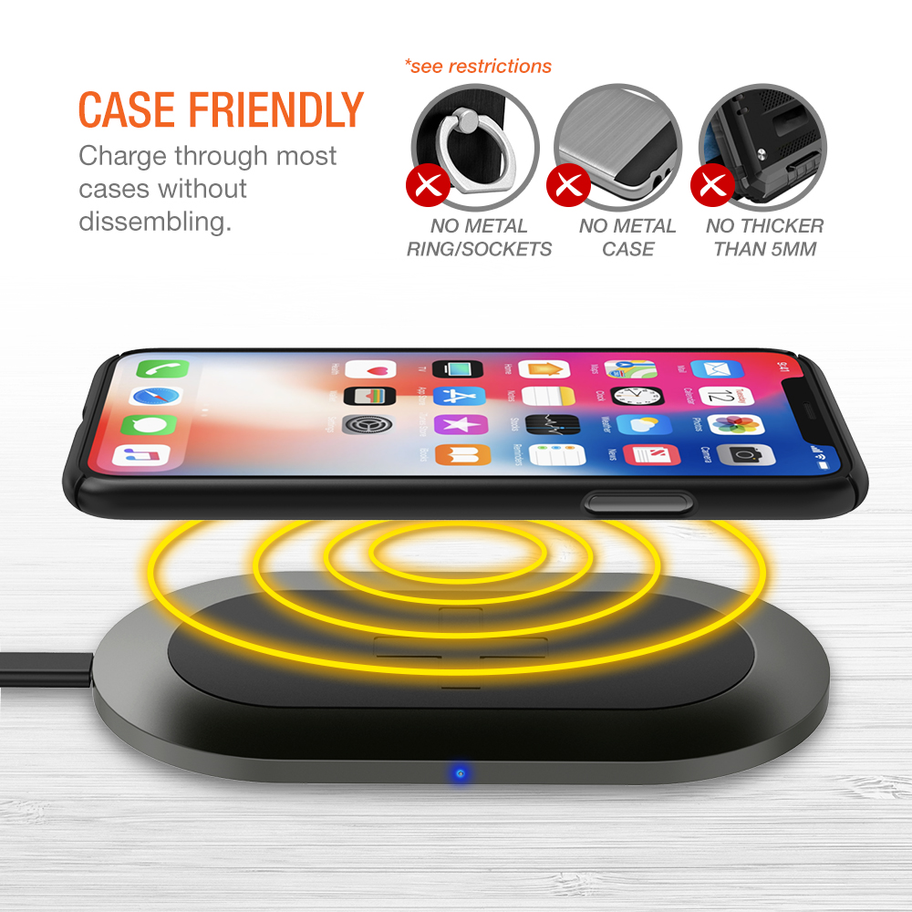 Wireless Charging Iphone Trianium Wireless Charger Charging Pad For Iphone Xs Max Xs X Iphone 8 8 Plus 10w Qi Fast Wireless Charger For Samsung Galaxy Note 8 Galaxy